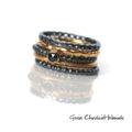 Złoto srebrne pierścionki z czarnym diamentem