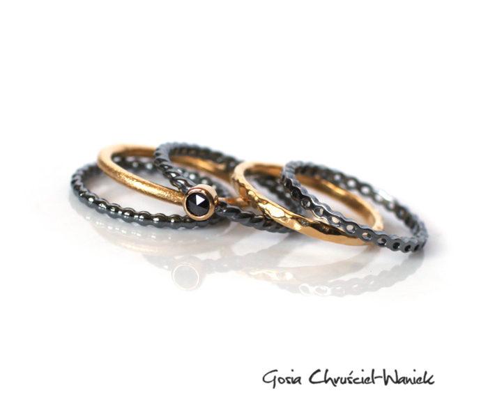 Pierścionki z czarnym diamentem