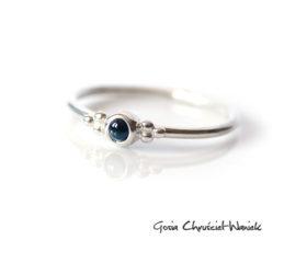 Landrynki – pierścionek z turmalinem