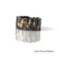 Organiczna obrączka Kora ze srebra i złota