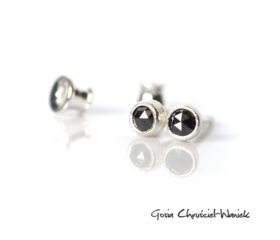 Czarne diamenty w diamentowanym srebrze