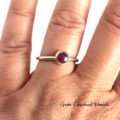 Klasyczny pierścionek z rubinem