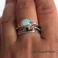Wyjątkowy pierścionek z opalem