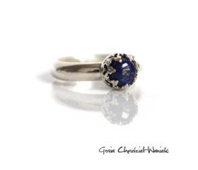Lapis lazuli w koronkowym srebrze