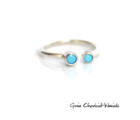 Arizona Blue – minimalistyczny pierścionek