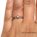 Pierścionek z białego palladowego złota z czarnym diamentem