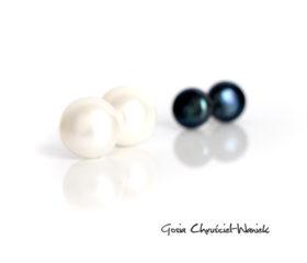 Kolczyki sztyfty z perłami