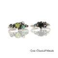 Organiczne pierścionki z kamieniami szlachetnymi
