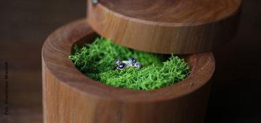 Drewniane szkatułki na biżuterię