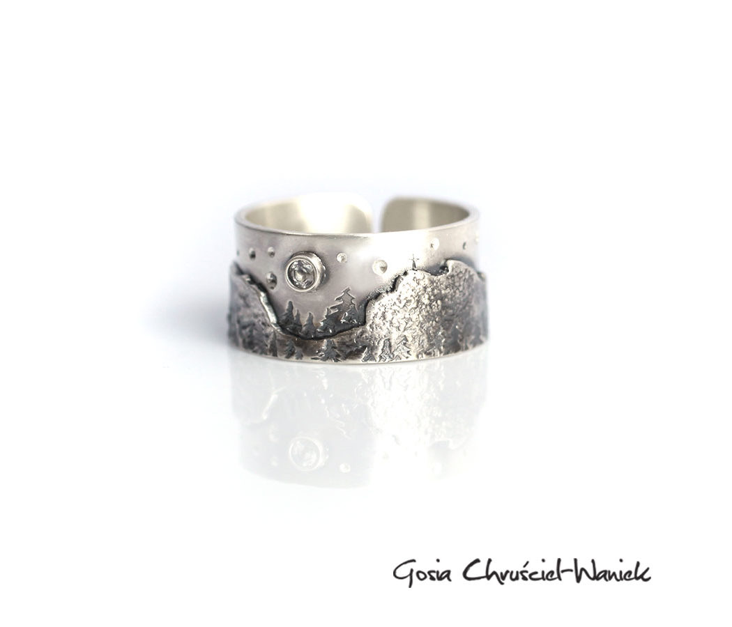 Srebrny pierścionek z Giewontem