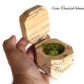 Drewniane pudełko na pierścionki