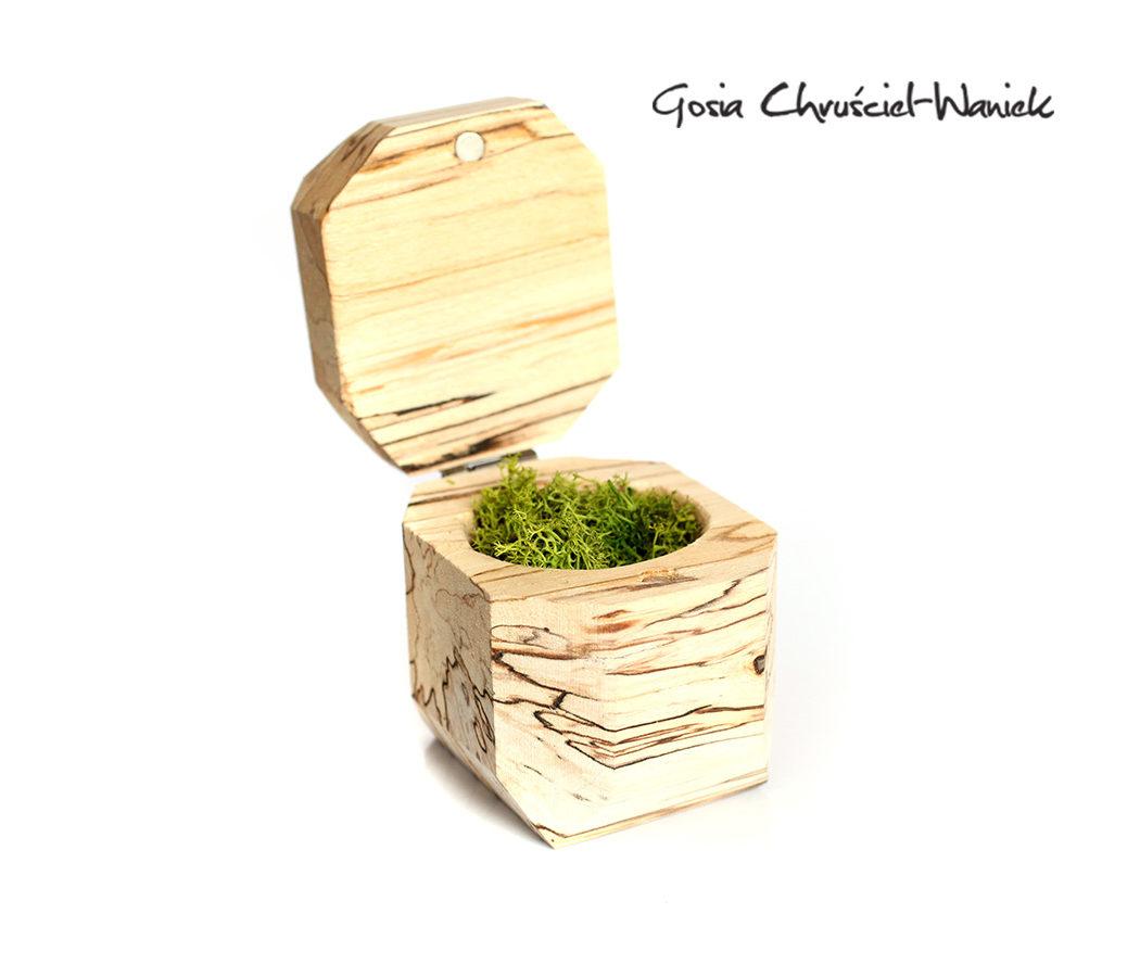 Drewniane pudełko z brzozy