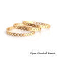 Minimalistyczny złocony pierścionek