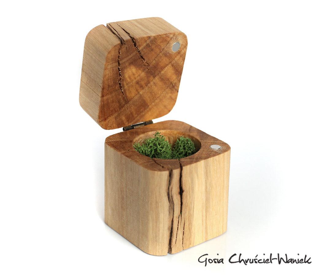 Drewniane pudełko z topoli