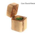 Drewniane pudełko na pierścionek zaręczynowy