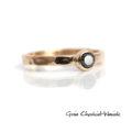 Ręcznie robiony pierścionek zaręczynowy z czarnym diamentem