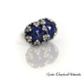Ażurowe kolczyki z lapisem lazuli