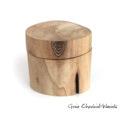 Drewniane pudełko na biżuterię - orzech