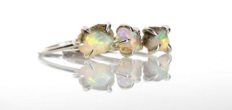 Piękne opale w srebrze