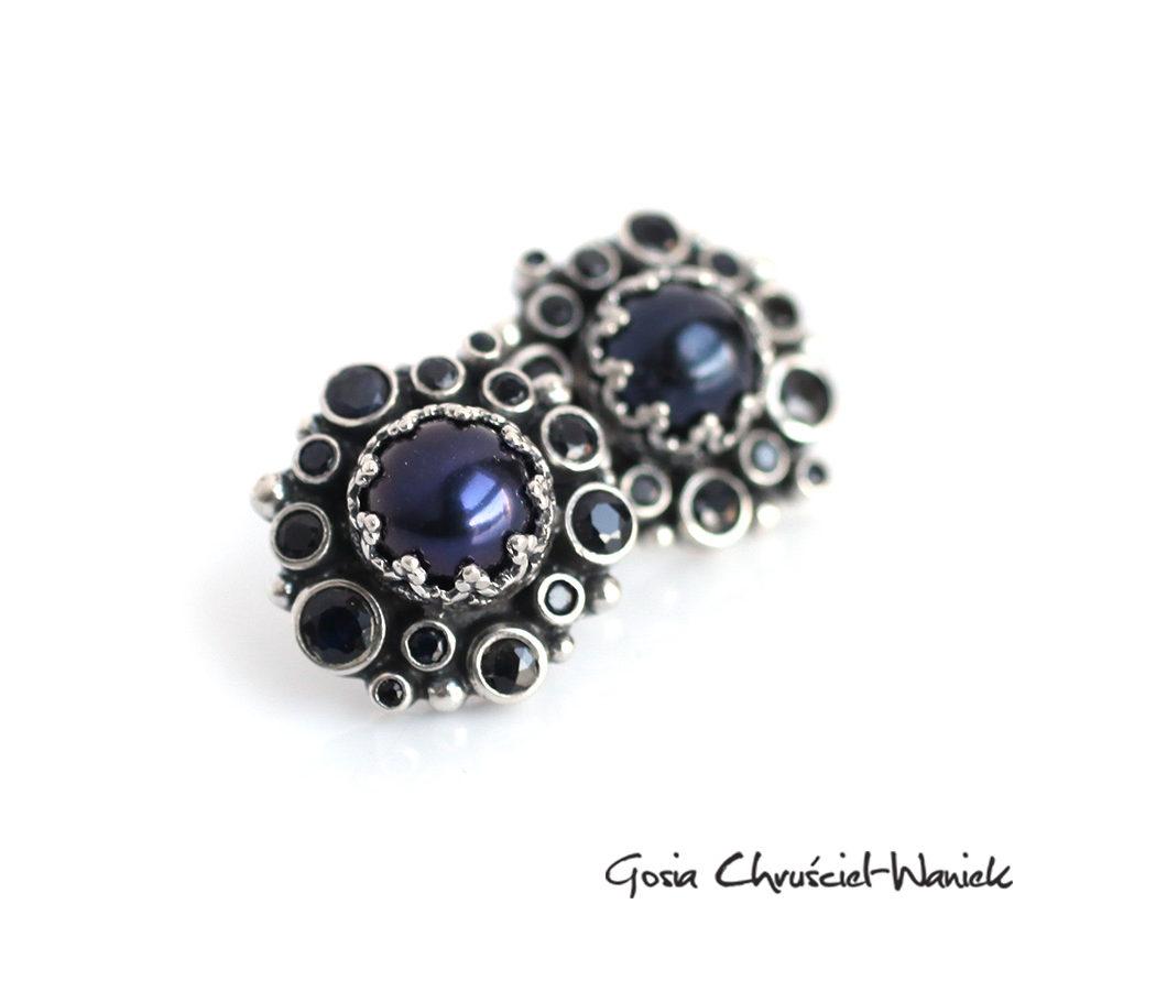 Srebro, perły i szafiry