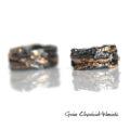 Srebro, złoto i brylant - ręcznie robione obrączki