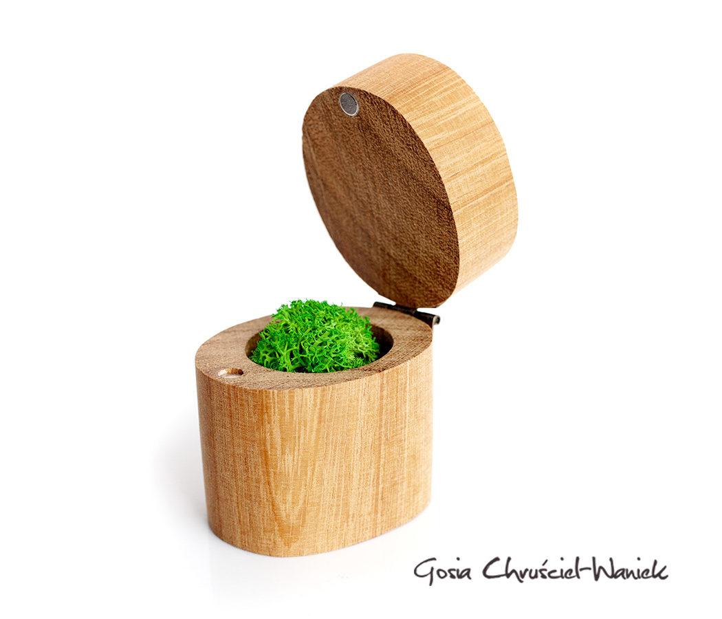Dąb egzotyczny - ręcznie robione pudełko na biżuterię