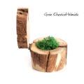 Ręcznie robione, drewniane pudełko z mchem