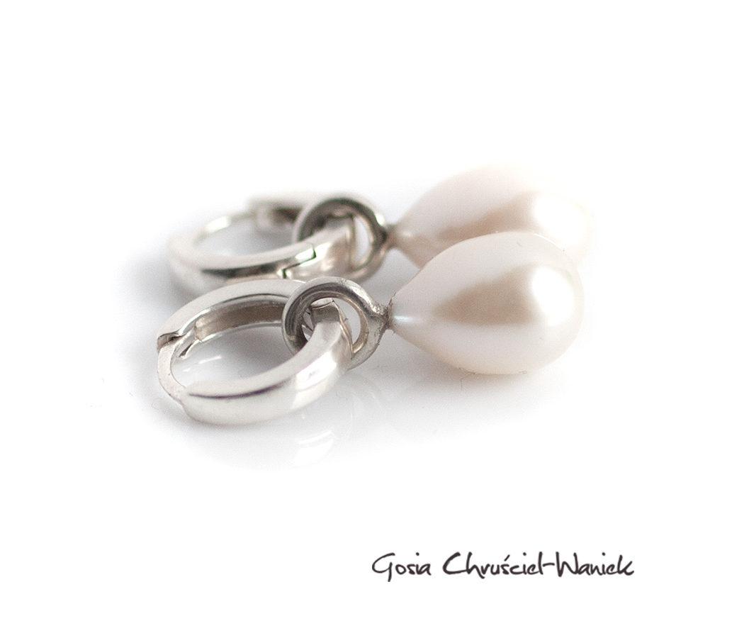 Srebrne kolczyki z naturalnymi perłami