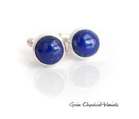 Lapis lazuli – spinki do mankietów