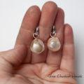 Srebrne kolczyki z perłami barokowymi