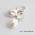 Klasyczne kolczki z barokowymi perłami