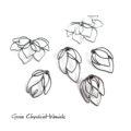 Oksydowane srebrne kolczyki magnolie