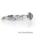 Labradoryty i kamienie księżycowe, zestaw pierścionków