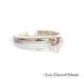 Srebrny pierścionek z cyrkonią w złocie