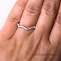 Organiczna srebrna obrączka