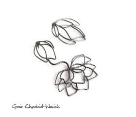 Asymetryczne Magnolie – kolczyki