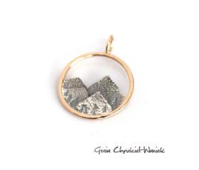 Złoto srebrny wisior górski