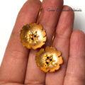 Kwiatki w złoconym srebrze