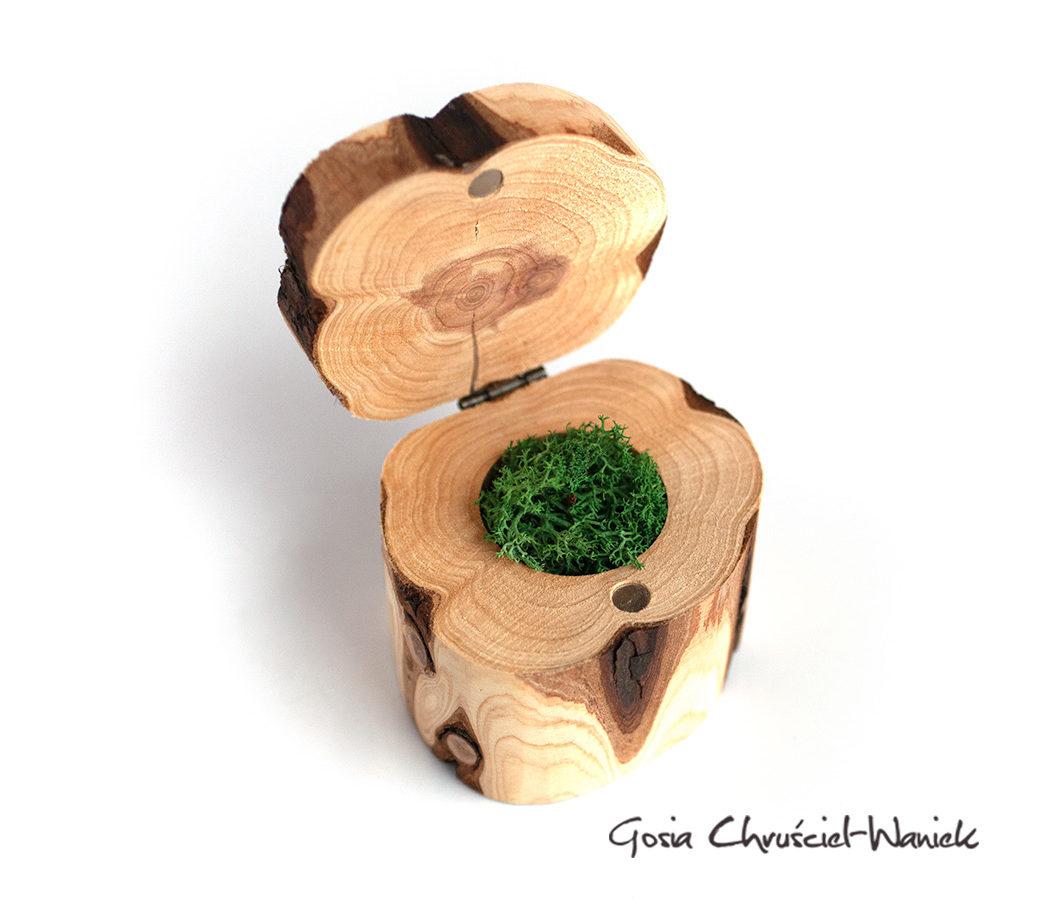Tuja, pudełko drewniane