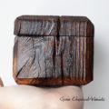 Drewniane, ręcznie robione pudełko na biżuterię