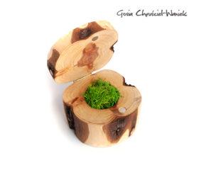 Tuja – naturalne, drewniane pudełko na biżuterię