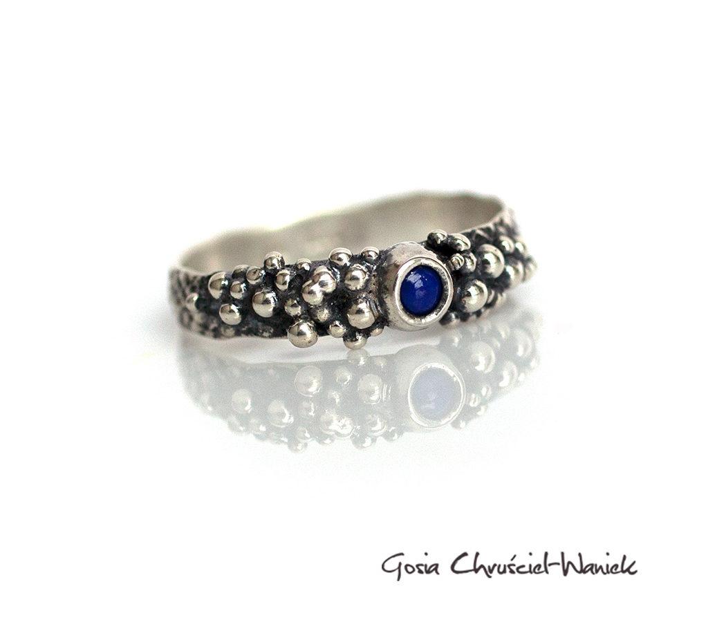 Srebro i lapis lazuli