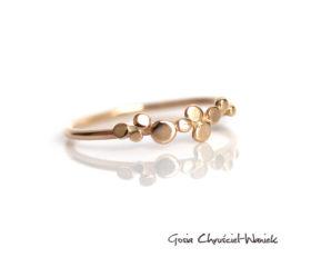 Złoty pierścionek Paths Mini