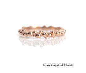 Obrączka symbiosis w różowym złocie