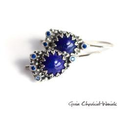Kolczyki z lapisami lazuli i cyrkoniami