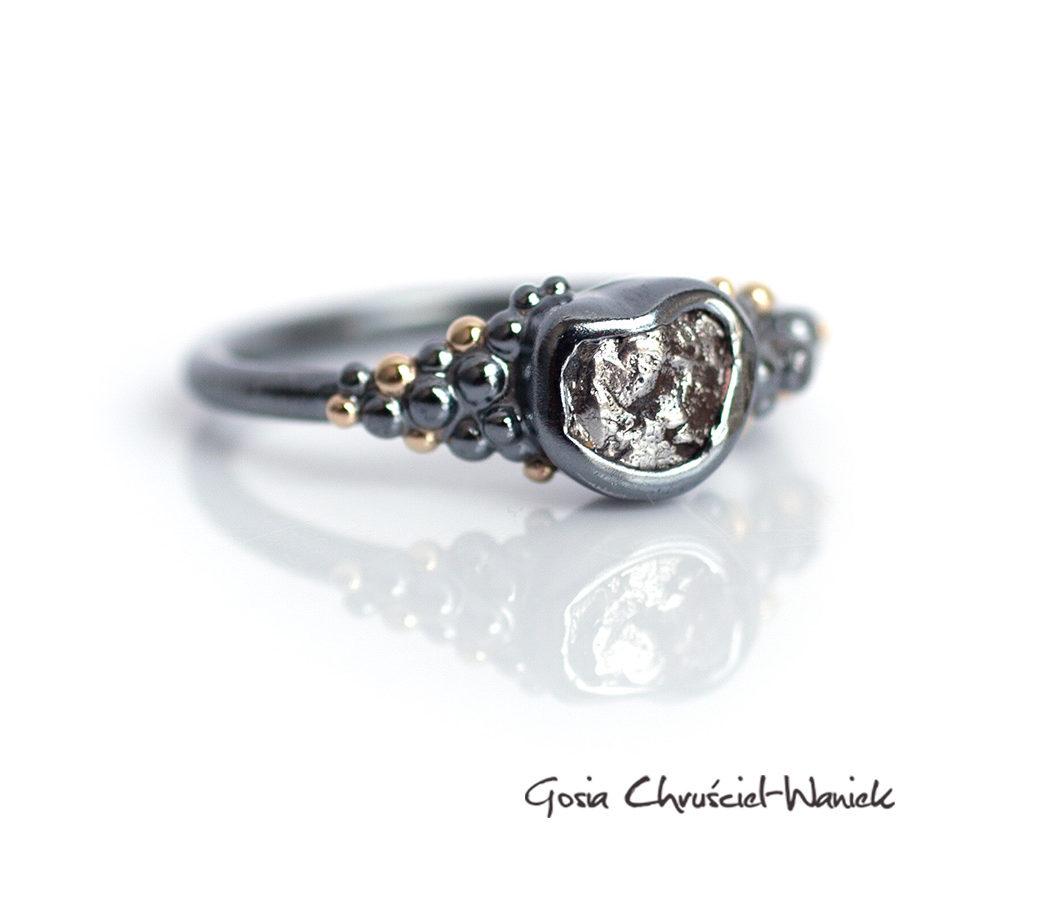 Srebro, złoto, meteoryt i diament